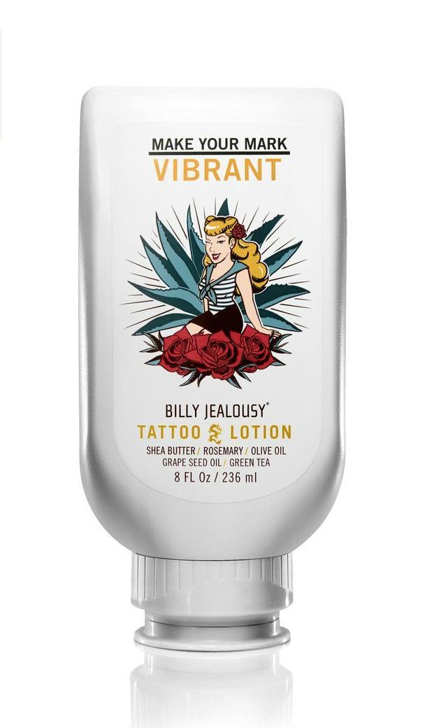 kem dưỡng da cho hình xăm Billy J ghen tị với Tattoo Lotion