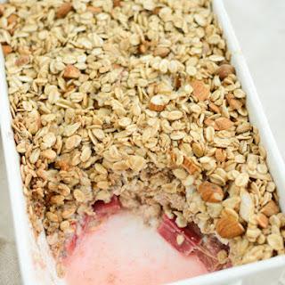 Baked Rhubarb Oatmeal.