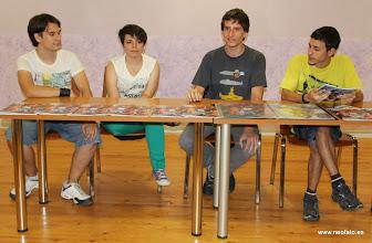 Photo: 20.09.2014.- HUESCÓMIC 2014 Javier Sanos, Leyre Lardiés, Diego Canalejas y Dani Lardiés