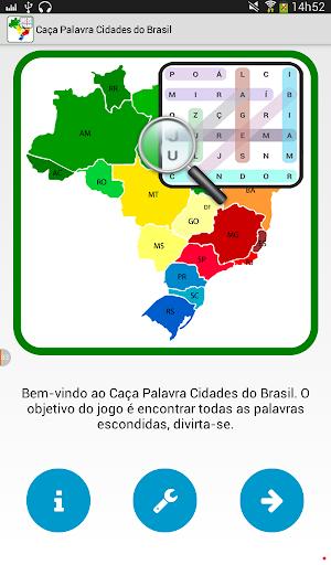 Caça Palavra Cidades do Brasil