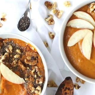 Pumpkin Pie Smoothie Bowl (For Breakfast Or Dessert).