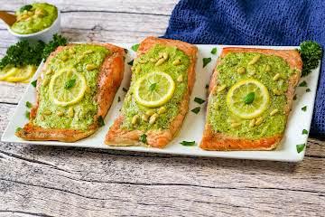 Salmon Fillet With Herb Pesto