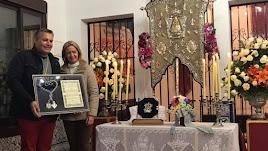 Margarita Alcaide, en una foto del Facebook de la Hermandad de Nuestra Señora del Rocío de El Ejido.