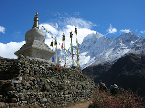 Photo: We had splendid view of Thamserku (6608m) when we hiked from Namche to Tengboche
