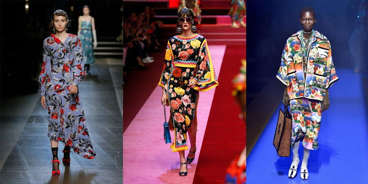 Erdem (left), Dolce & Gabbana (middle), Gucci (right)
