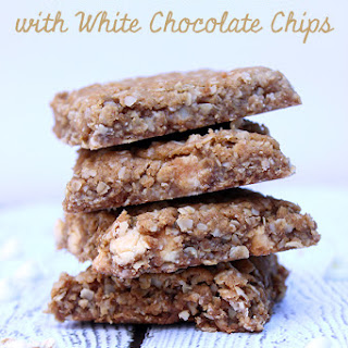 Oatmeal Bars with White Chocolate Chips