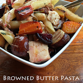 Browned Butter Pasta With Roasted Root Veggies