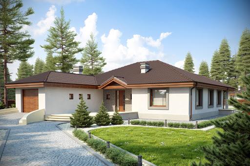 projekt domu Tomaszek z garażem 1-st. A