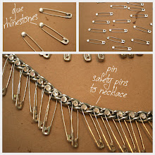 Photo: Detailed photos showing how to add rhinestones to your statement necklace diy http://www.trinketsinbloom.com/wearable-diy/triple-chain-statement-necklace-diy/