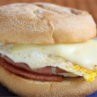 Jersey Style Pork Roll, Egg and Cheese Sandwich.