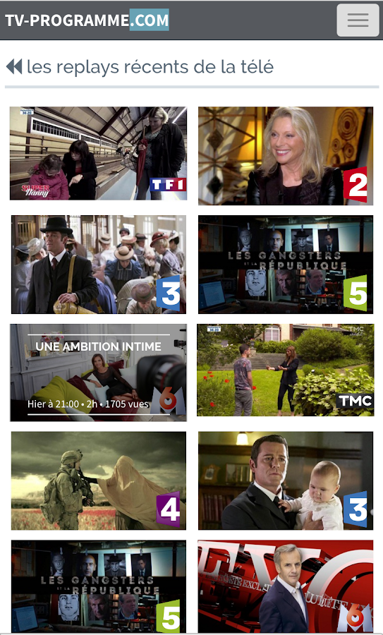 Programme TV- screenshot
