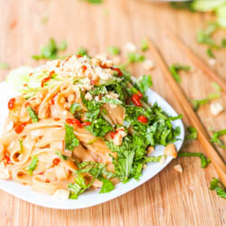 Vegan Asian Sesame Noodles with Cucumber and Herbs {Gluten-Free} Recipe