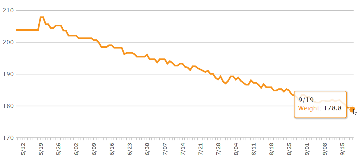 30lbs lost in 4 months