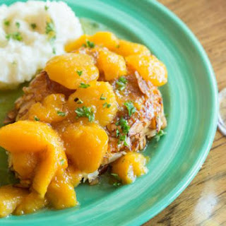Easy Skillet Chicken Legs with Peaches