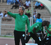 Veselin Jelusic coach of Bloemfontein Celtic during the Telkom Knockout Semi Final match between Polokwane City and Bloemfontein Celtic at Old Peter Mokaba Stadium on November 19, 2017 in Polokwane.