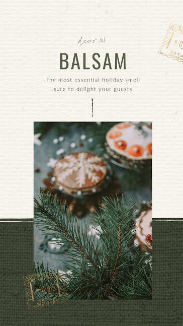 Home Holiday Balsam - Christmas Template
