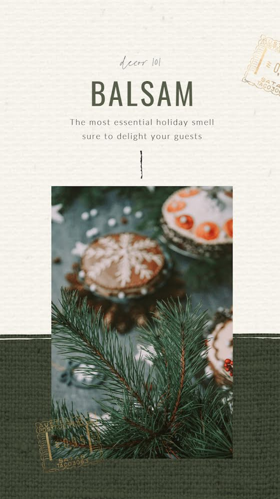 Home Holiday Balsam - Christmas Template