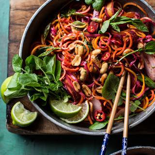 Rainbow Veggie Pad Thai Noodles.