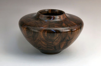 "Photo: David Jacobowitz - Staved hollow segmented vessel - 7"" x 5"" - bocote"