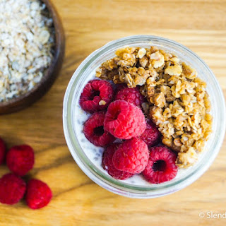 Cardamom Raspberry Overnight Oatmeal Crumble.