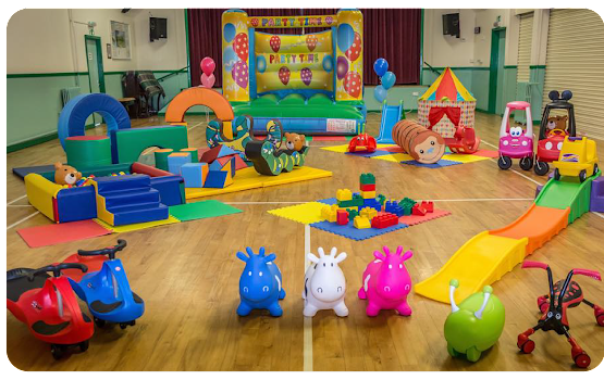 soft play equipment for kids up to 5 in a hall