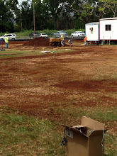Photo: Yesterday, there were dirt piles all over.  Today, the area is ready for the portables!