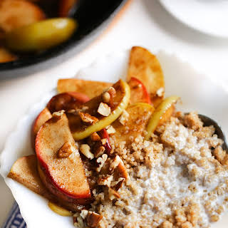 Healthy Breakfast Quinoa with Coconut Milk and Apples.