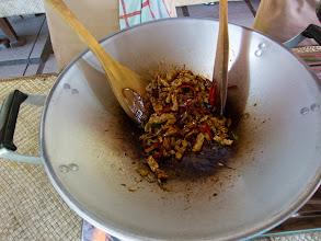 Photo: Tempe me goreng (Deep fried tempe in sweet soy sauce)