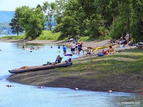 Photo: Hot Summer day at Burton Island State Park beach by Sarah Hayes