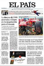 Photo: En la portada de EL PAÍS del lunes 25 de marzo: La dureza del FMI acorrala a Chipre en la negociación para el rescate; Falciani irrumpe en el 'caso Gürtel' con otra lista de evasores fiscales; Capriles pelea contra el reloj ante el poderío del chavismo: http://srv00.epimg.net/pdf/elpais/1aPagina/2013/03/ep-20130325.pdf