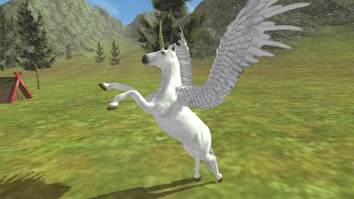 Flying Unicorn Simulator Free screenshot 2