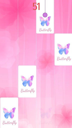 Screenshot for Flower Pink Piano Tiles - Girly Butterfly Songs in United States Play Store