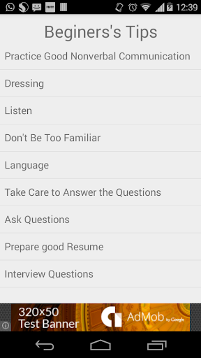 Interview Tips for Beginners