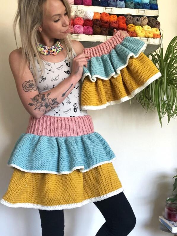 Mother & Daughter Rara Combo Crochet Skirt Pattern
