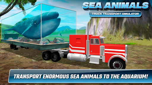 Screenshot for Sea Animals Truck Transport Simulator in United States Play Store