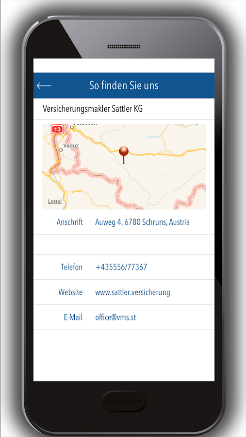 Sattler Versicherungsmakler – Screenshot