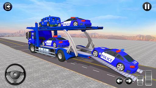 Code Triche Jeux de Camion de Transport de Voiture de Police APK MOD (Astuce) screenshots 2