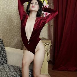 sexy  by Renie A. Priyanto - Nudes & Boudoir Artistic Nude ( #lingerie #woman #redlingerie #woman #beauty )