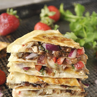 Balsamic Chicken & Strawberry Quesadilla