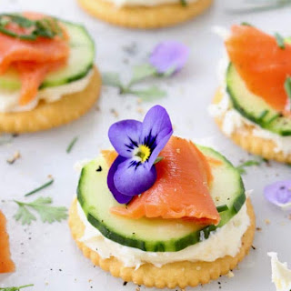 Cucumber Salmon Appetizers.