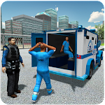 Police Prisoners Transport Bus Icon