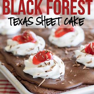 Black Forest Texas Sheet Cake.