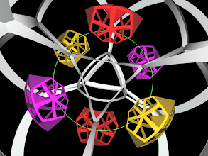 Photo: Six of the ten cells form a ring invariant under a screw motion of S3.