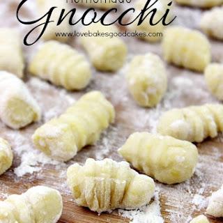 Homemade Gnocchi.