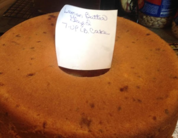 The dark spots in the cake are from the pulverized lemon that is in...