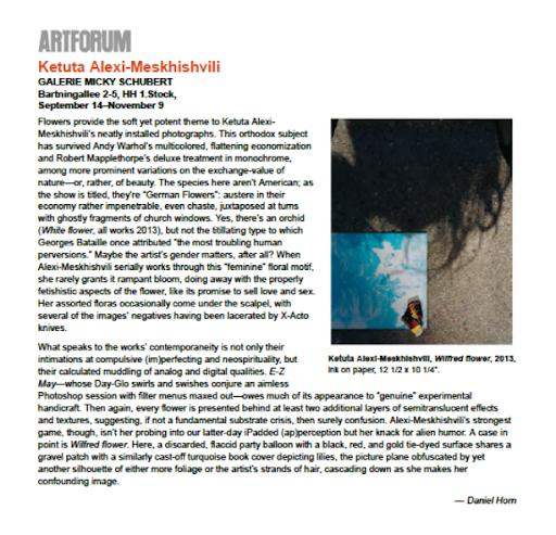 Ketuta Alexi-Meskhishvili Artforum