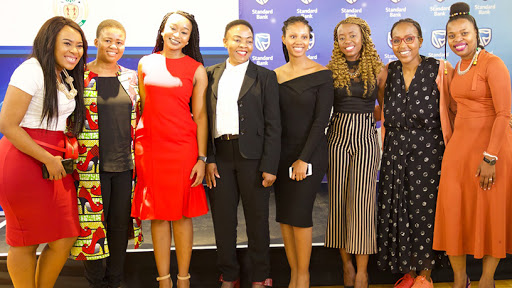 The top five finalists of the Women in ICT competition.