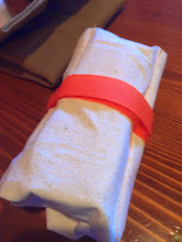 Photo: Another Batch of Tool Rolls  An early version of our Tool Roll that we tested. The final Waxed Canvas Version in orange, is back in stock on Amazon  http://amzn.to/1nhW8Cu  and available this weekend at Hammer + Awl in Seattle.