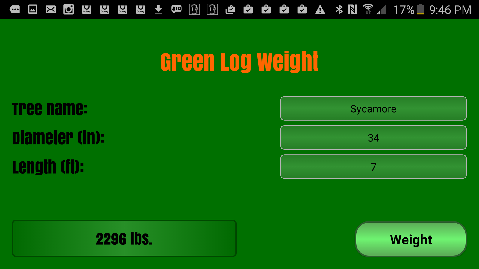 Tree cutters log weight chart android apps on google play tree cutters log weight chart screenshot nvjuhfo Choice Image