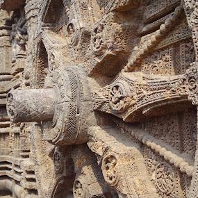 Clock Wheel... by Sandip Roy - Buildings & Architecture Public & Historical